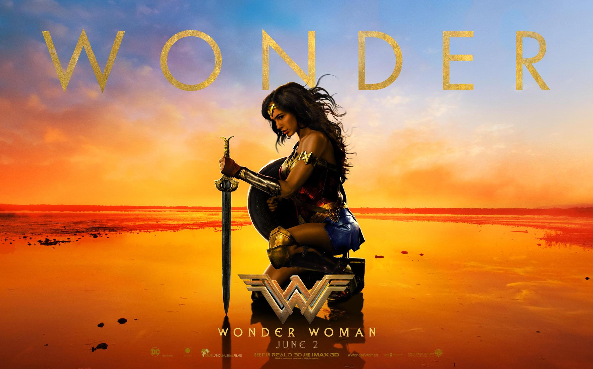 Картинки по запросу wonder woman poster
