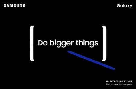 Смартфон Samsung Galaxy Note8 будет представлен 23 августа