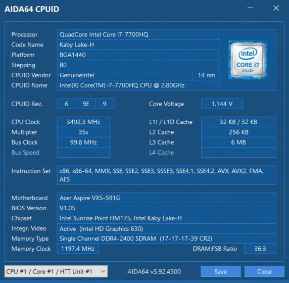 Обзор игрового ноутбука Acer Aspire VX 15