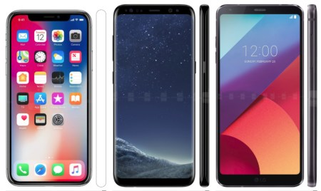 Сравнение характеристик iPhone X, Galaxy S8, LG G6, Mi Mix 2, Essential Phone