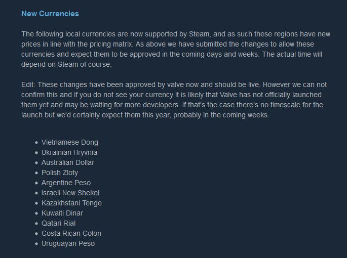 Steam добавит украинскую гривну в качестве средства оплаты игр в ближайшие дни