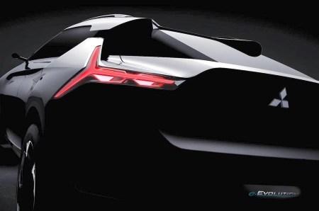 Mitsubishi опубликовала тизерное изображение электрического кроссовера e-Evolution, который будет представлен на Токийском автосалоне