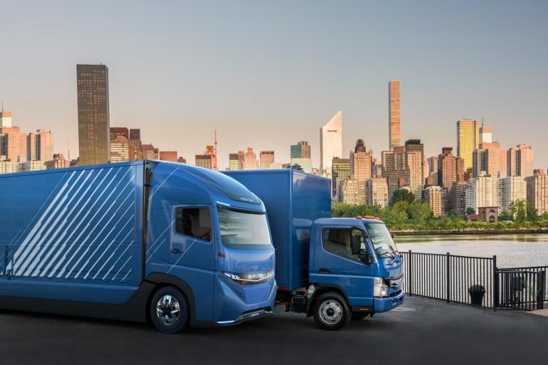 Daimler Trucks представила концепт электрического грузовика E-FUSO Vision One с батареей на 300 кВтч и запасом хода 350 км