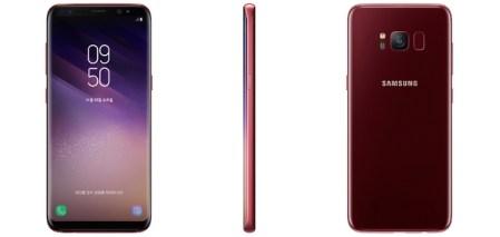Samsung выпустила Galaxy S8 в новом цвете Burgundy Red и получила патент на сканер отпечатков пальцев, расположенный под дисплеем