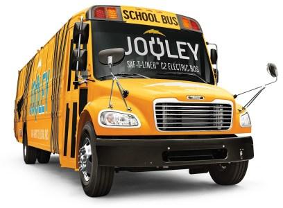 Daimler представил электрический школьный автобус «Jouley» для рынка США с батареей на 160 кВтч и запасом хода 160 км