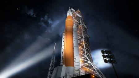 NASA показало очередную анимацию первого полета сверхтяжелой ракеты-носителя SLS, но, скорее всего, раньше середины 2020 года она не полетит