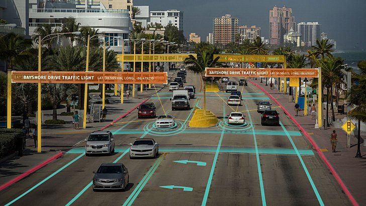 LG и Here наделят самоуправляемые автомобили возможностью «общаться» друг с другом