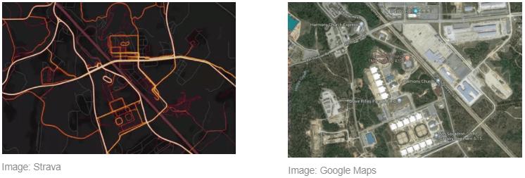 Карта приложения для отслеживания физической активности Strava раскрыла расположения военных баз и маршруты персонала