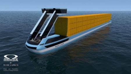 Осенью в Нидерландах спустят на воду два полностью электрических контейнеровоза «Tesla ships»