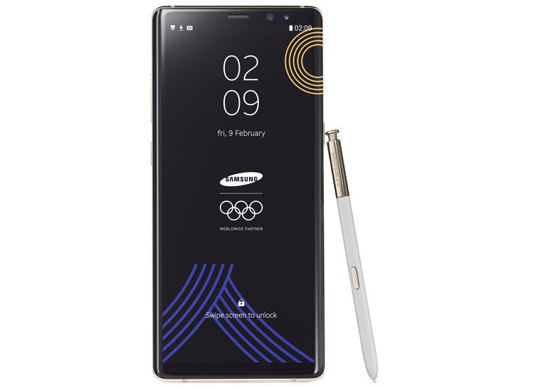 Samsung выпустила лимитированную версию смартфона Galaxy Note8 в честь Зимних Олимпийских игр 2018 в Пхёнчхане