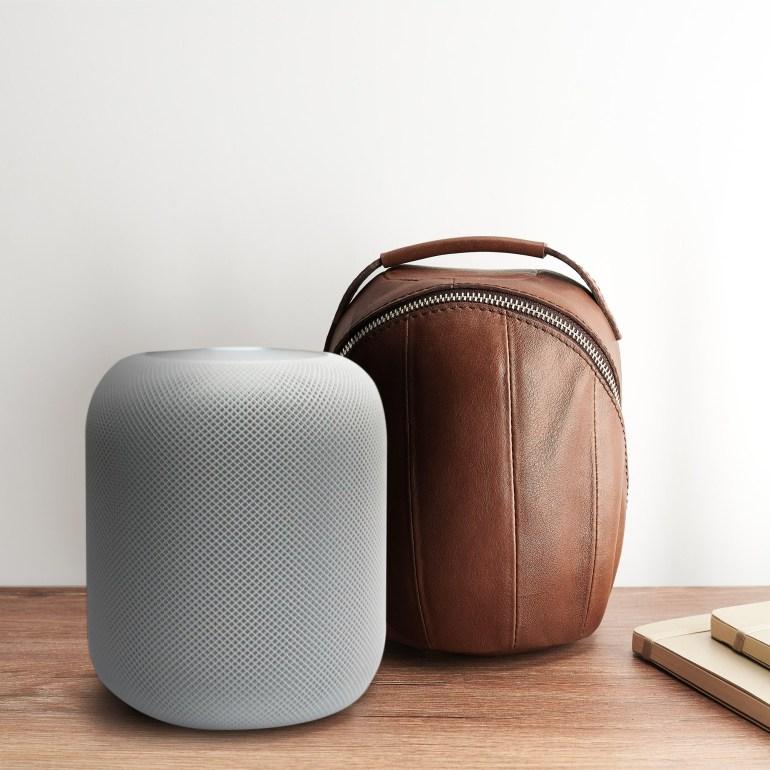 90-долларовая кожаная сумка-чехол Capra Leather для переноски домашней колонки Apple HomePod
