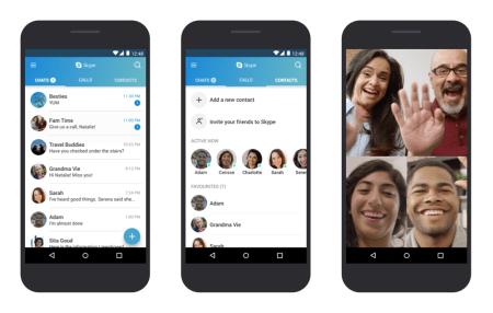 Microsoft оптимизировала Skype для Android, чтобы он лучше работал на смартфонах с более старыми версиями ОС