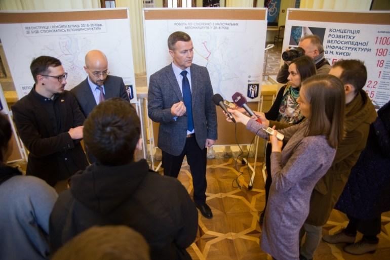 В КГГА представили Концепцию развития велоинфраструктуры Киева