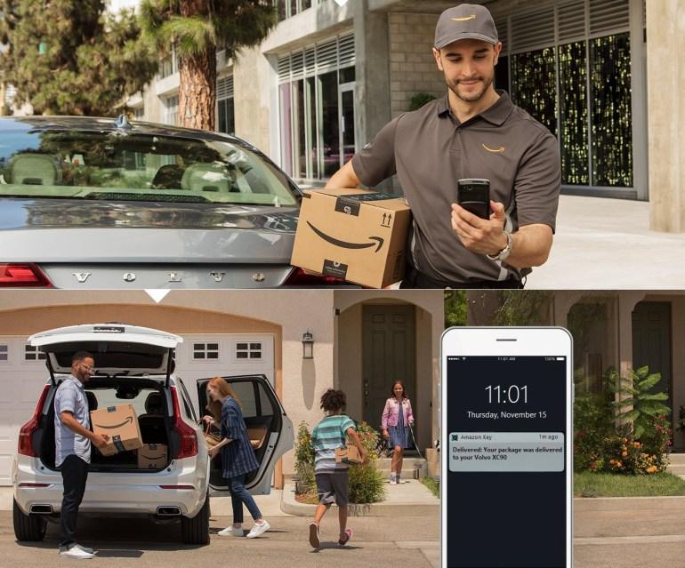 Amazon запустил доставку посылок в багажник автомобиля клиента