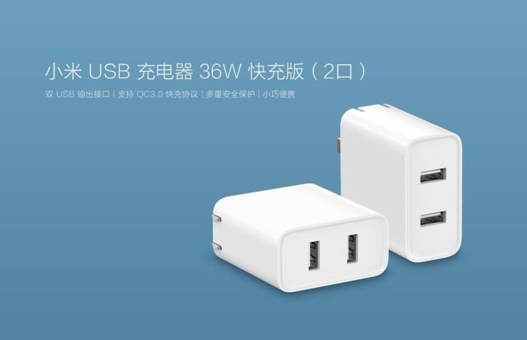 Новое зарядное устройство Xiaomi с двумя портами USB Type-A и поддержкой Quick Charge 3.0 стоит менее $10