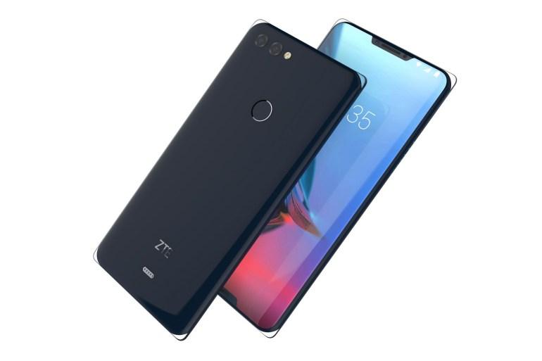 """ZTE Iceberg - полностью стеклянный смартфон без металлической рамки и с двумя """"челками"""" на передней панели"""