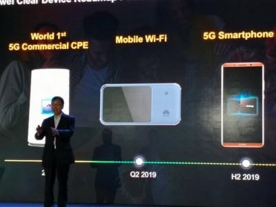 Huawei выпустит свой первый смартфон с поддержкой 5G в третьем квартале 2019 года