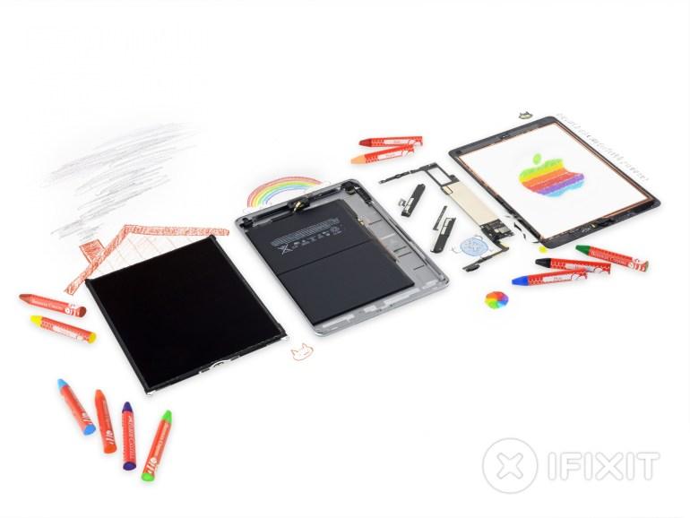 """Новый """"учебный"""" iPad набрал всего 2 балла из 10 по шкале ремонтопригодности iFixit, школам может не понравиться потенциальная сложность и дороговизна его ремонта"""