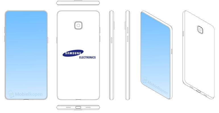 """Samsung запатентовал дизайн смартфона с """"челкой"""" и определился с характеристиками будущих Galaxy S10/S10+. Они получат Exynos 9820 или Snapdragon 855, 3D-камеру и сканер отпечатков под экраном"""
