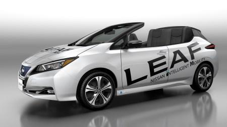 Японцы показали официальный электрический кабриолет Nissan Leaf Open Car