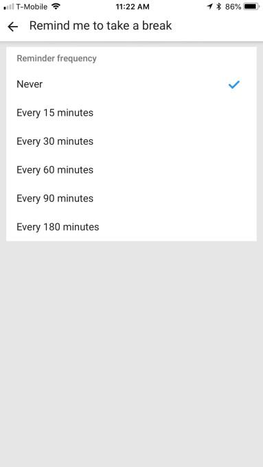 ПО YouTube на Android и iOS отныне могут напоминать пользователям делать перерывы при длительном просмотре видео