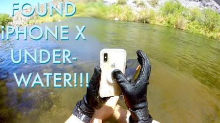 iPhone X две недели пролежал на дне реки, после чего без проблем заработал [видео]