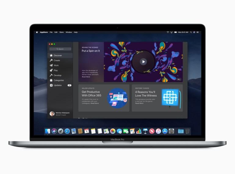 Apple представила macOS Mojave с тёмным оформлением, обновлённым Mac App Store, новыми приложениями и повышенной безопасностью