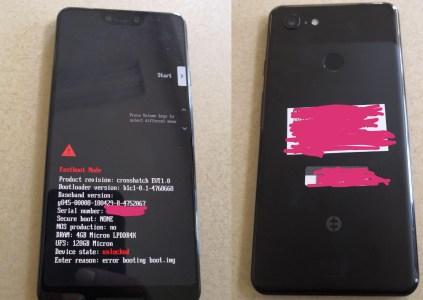 Прототип смартфона Google Pixel 3 XL засветился на «живых» фотографиях