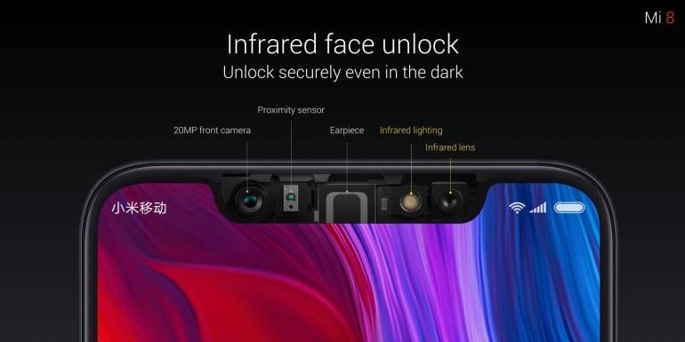 монобровь Xiaomi Mi 8