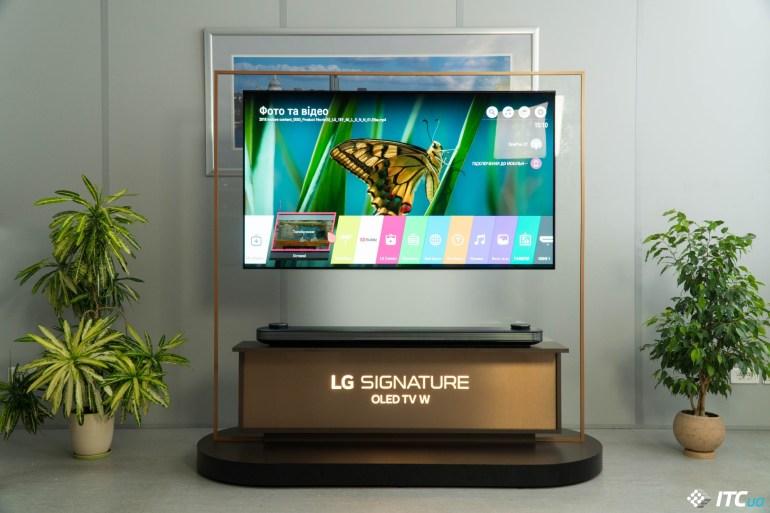 меню LG OLED65W8PLA