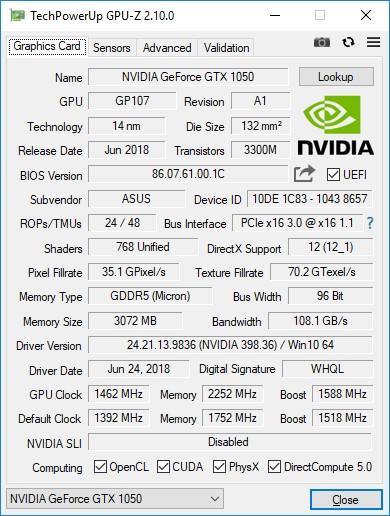 GeForce GTX 1050 3 ГБ: новый фаворит для базовых игровых ПК?