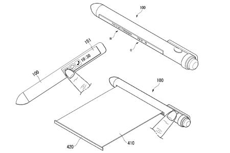 LG запатентовала умный стилус с гибким скручивающимся экраном и LTE, который может заменить смартфон