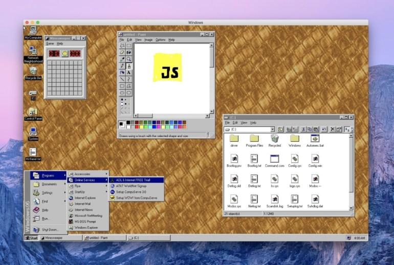 Windows 95 можно скачать в виде приложения и установить на macOS, Windows и Linux