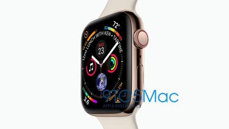 Новые умные часы Apple Watch Series 4 с увеличенным экраном показались на официальном изображении