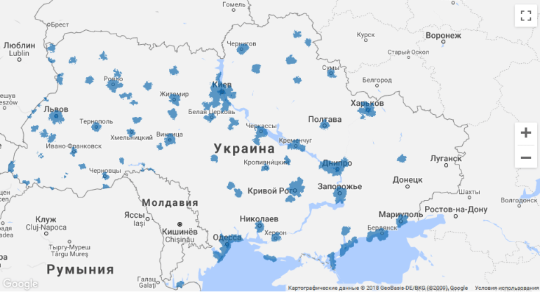 """""""Киевcтар"""" запустил 4G-сеть в диапазоне 1800 МГц в Сумах"""