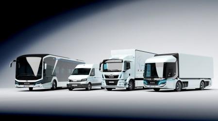 MAN привезла на выставку IAA 2018 линейку коммерческих электромобилей: концепт MAN CitE, грузовик MAN eTruck, электробус MAN City E и минивэн MAN eTGE