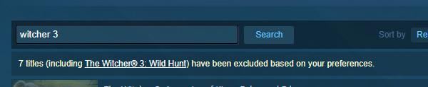 Steam обновил систему поиска и фильтрации, чтобы игроку было легче скрывать неподходящий контент