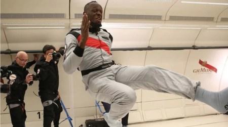 Теперь самый быстрый не только на Земле, но и в «космосе». Усэйн Болт выиграл забег в невесомости