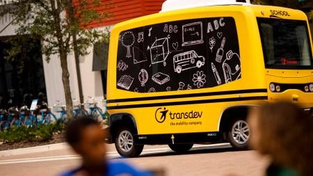 Французская компания Transdev приступила к тестированию беспилотного школьного автобуса