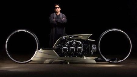 TMC Dumont — футуристический байк с двигателем от Rolls Royce