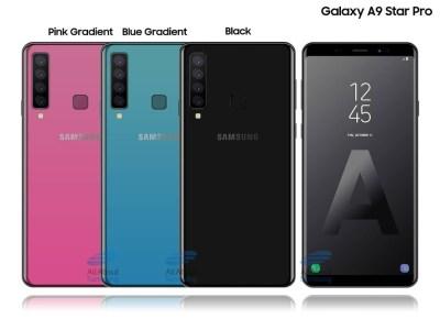 Смартфон Samsung Galaxy A9 Star Pro с основной камерой, включающей четыре модуля [Концептуальное изображение]