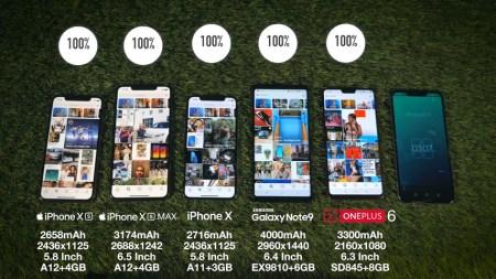 Смартфоны iPhone Xs и Xs Max сравнили по автономности с iPhone X, Galaxy Note9 и OnePlus 6 [Спойлер: они оказались лучшими]