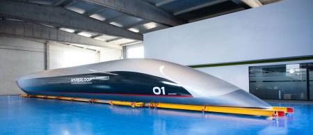 Hyperloop Transportation Technologies показала полноразмерную пассажирскую капсулу Quintero One