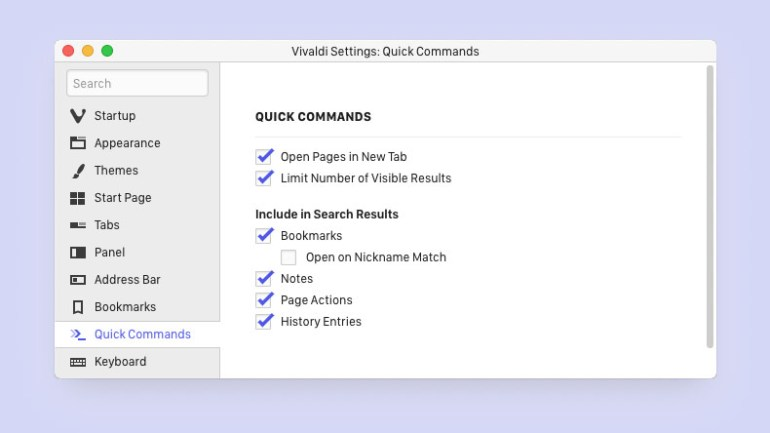 Вышла новая версия браузера Vivaldi 2.1 с улучшенной функцией «Быстрые команды»
