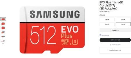 Новая карта памяти Samsung MicroSD EVO Plus на 512 ГБ стоит как добротный среднеуровневый смартфон