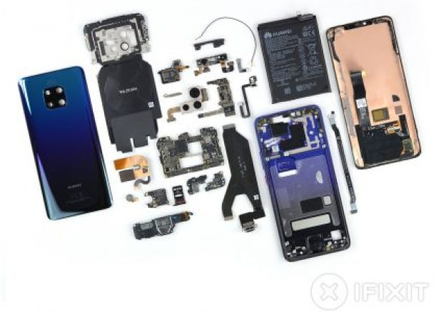 IFixit has divided the Huawei Mate 20 Pro into a smartphone and has over 4 out of 10 maintenance capabilities.