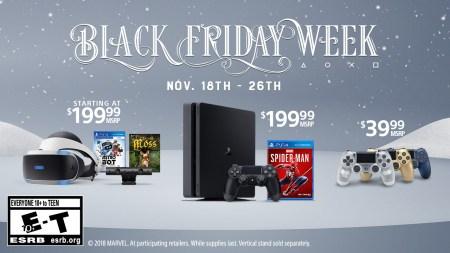 Акция PlayStation Black Friday Week 2018 пройдет с 18 по 26 ноября, в США можно будет купить бандл PS4 (1 ТБ) с игрой Spider-Man всего за $199