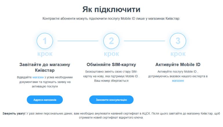 """""""Киевстар"""" официально запустил услугу Mobile ID для всей Украины"""