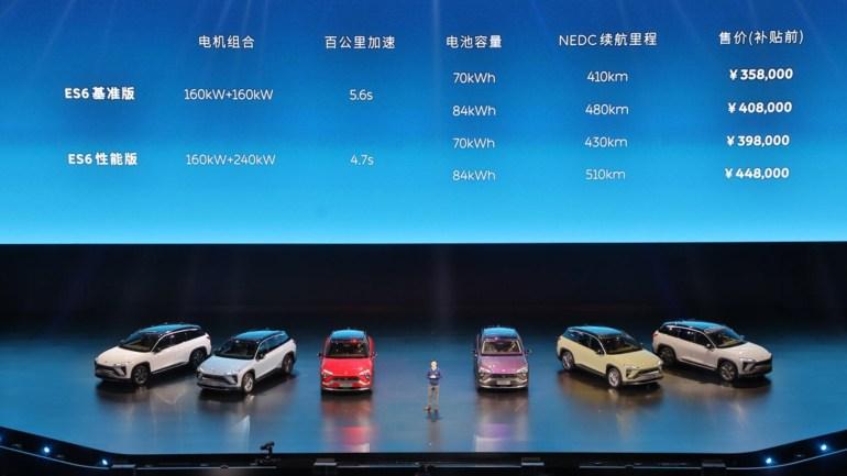 """Анонсирован NIO ES6 - серийный электрокроссовер с парой двигателей мощностью до 544 л.с., разгоном до """"сотни"""" за 4,7 с, запасом хода 510 км (NEDC) и ценником от $52 тыс."""