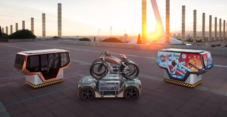 MicroSNAP - концептуальный модульный робомобиль, разработанный швейцарской компанией Rinspeed